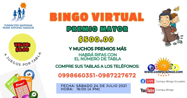 Aviso Bingo Fundación Padre Amador